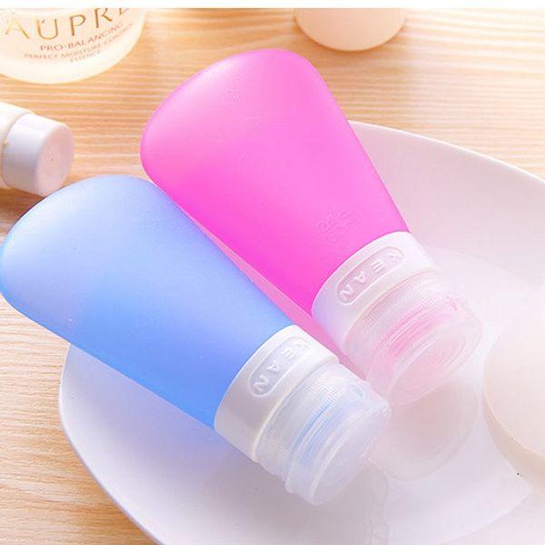 Portátil Suave de silicona Champú de viaje Botellas Comestic Set 37ml 60ml 89ml Forma de ventilador Botella de embalaje de silicona para todos los artículos de tocador líquidos h139