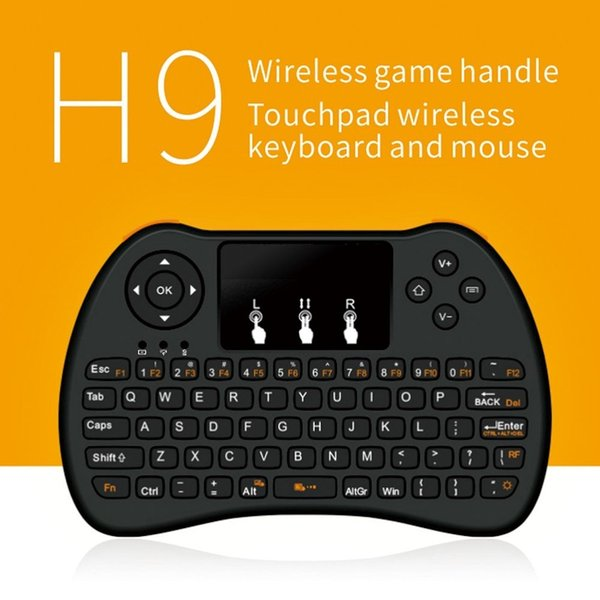 Mini H9 Backlight Keyboard Touch Fly Air Mouse chargeable battery USB Cable Portable 2.4GHZ Mini Wireless Keyboard Mouse Touchpad PC