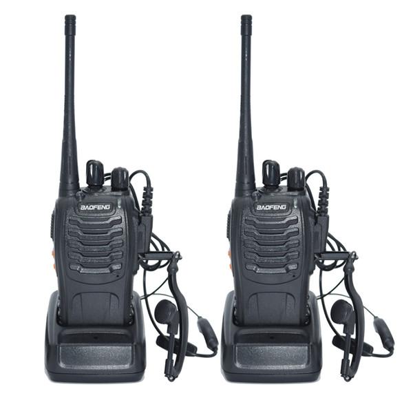 Atacado-2pcs Walkie Talkie Rádio BaoFeng BF-888S 5W portátil Ham CB Rádio em dois sentidos Handheld HF Transceiver Interphone bf-888s