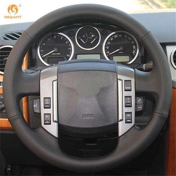 Coprivolante per auto in pelle sintetica nera Mewant per Land Rover Old Range Rover Sport 2005-2007