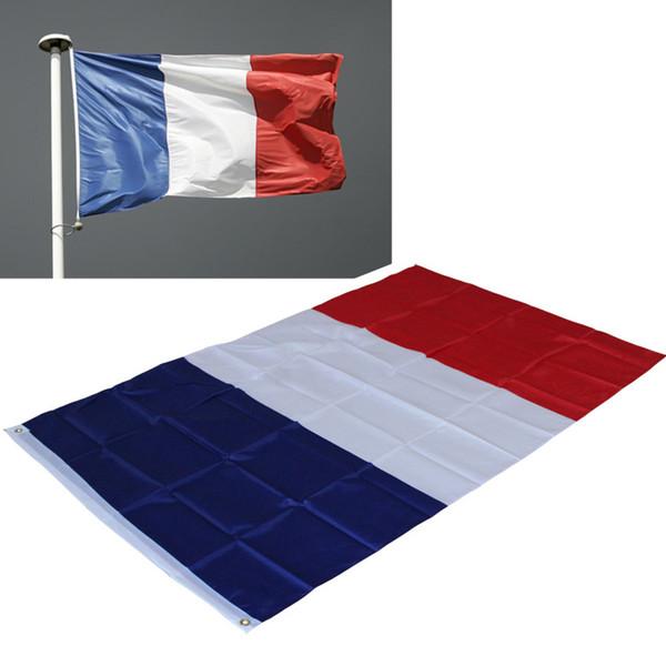 87 * 148cm Drapeau de la France - Drapeaux français en polyester Bannière - le drapeau tricolore - Pour Festival Home Decoration