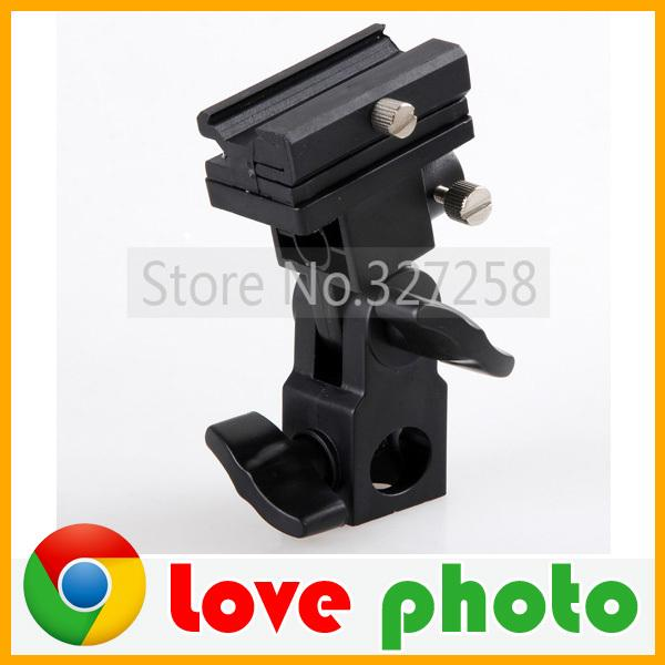 Wholesale-High Quality B Type Universal Mount Flash Hot Shoe Adapter Trigger Umbrella Holder Swivel Light Stand Bracket