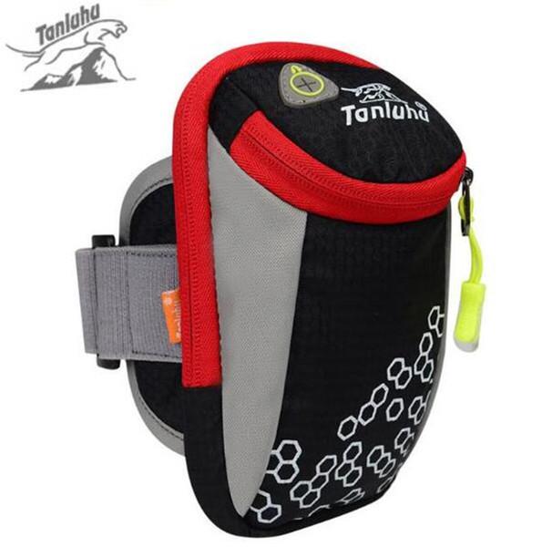 Al por mayor-TANLUHU 6inch deportes al aire libre bolsas para correr bolsas de brazo senderismo bolsa de ejercicio Multifuncional gimnasio al aire libre Brazo equipo de la correa