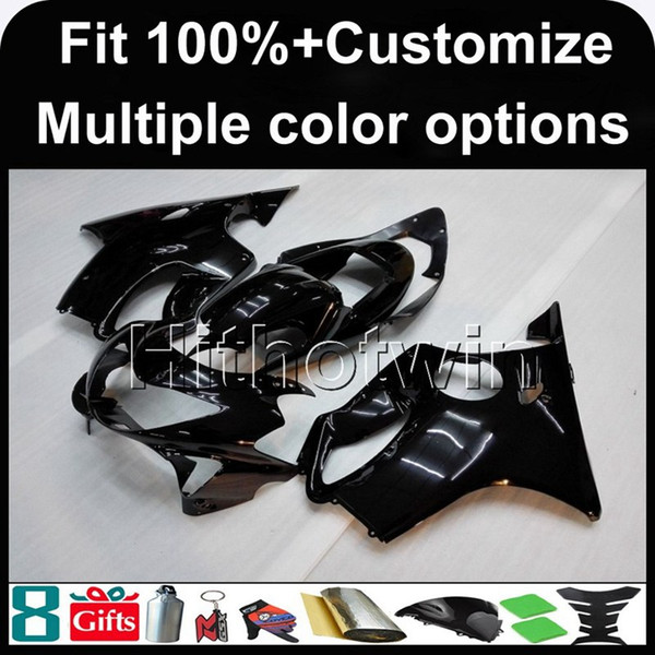 23colors+8Gifts Injection mold BLACK motorcycle cowl for HONDA CBR600F4 1999-2000 F4 99 00 ABS Plastic Fairing