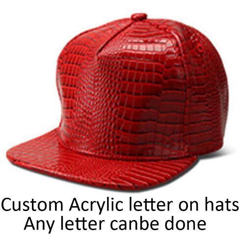 Heißer Verkauf Großhandels-PU-Kappe geben kundenspezifisches Acylys Hysteresen-Leder-Hüte Erwachsener Hip Hop-goldene irische Acrylhut-Buchstabe-Baseball-DIY Sun-Kappen frei