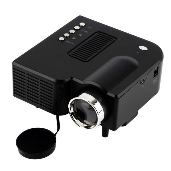 Wholesale-UC28 unic Portable LED Projector Cinema Theater PC&Laptop VGA/USB/SD/AV/HDMI Input White Mini Pocket Projector Multimedia
