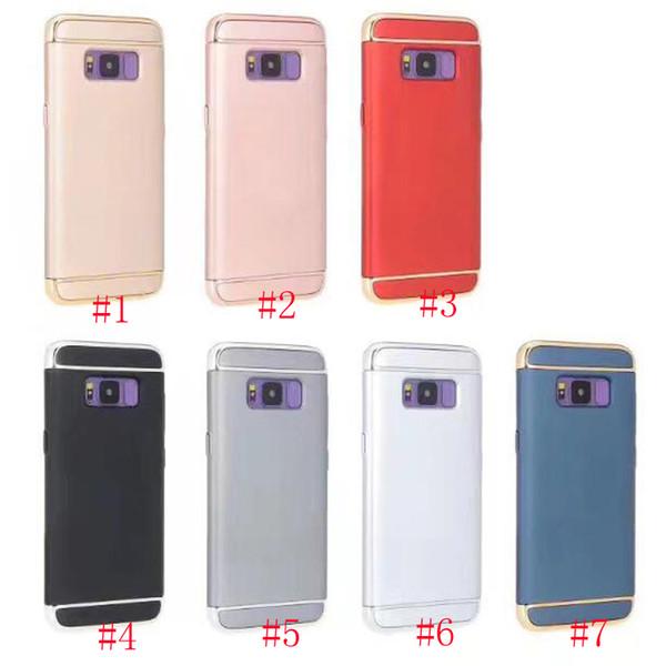 ventas al por mayor 3 en 1 de lujo cajas de teléfonos celulares de metal híbrido para Samsung Galaxy S8 plus iphone7 plus 6 6S 5S SE