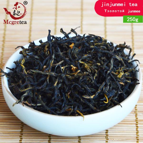 [Mcgretea] Premium Jinjunmei tè nero 250g Cina Wuyi Mountain Black Tea produttore jin jun mei oro sopracciglio buon tè