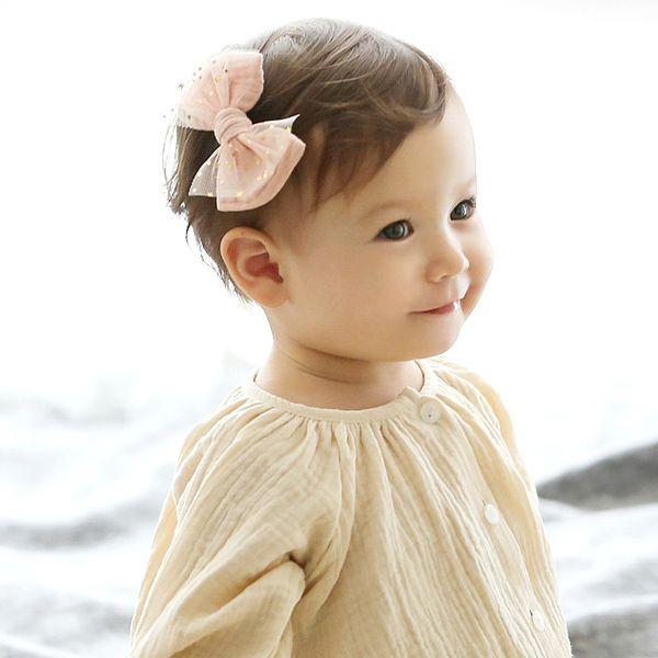 Wholesale 10pce Fashion Cute Glitter Star Gauze Bow Hairpins Solid Bowknot Hair Clips Princess Headware Hair Accessories