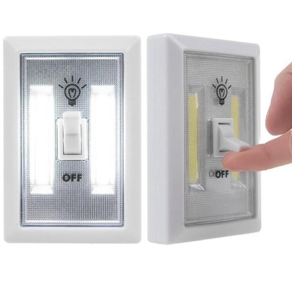 Luz de Noche LED Ultra Brillante Mini COB Luz de Pared Inalámbrica con Interruptor de Cinta Mágica para Camp Lámpara de Interior 300 unids OOA2173