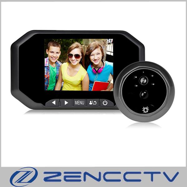 3.5 inch LCD Digital Door Viewer Peephole Doorbell 160 degrees Home Security Door Bell Camera Photo Shooting PIR 16GB SD Card Recording