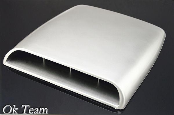 Car Styling Universal Decorativo Flujo de aire Toma de admisión Turbo Bonnet Vent Cover Hood Plata / blanco / negro envío gratis
