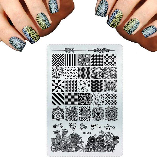 Wholesale Pretty Nail Art Templates Stainless Steel Stamping For ...