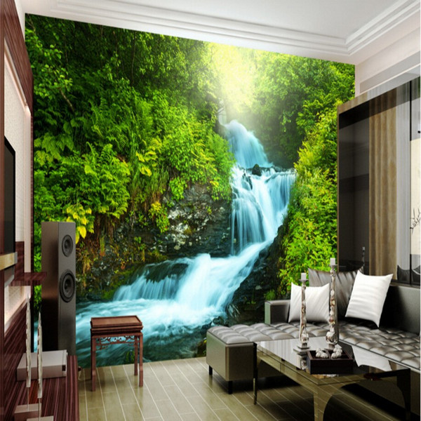 Wholesale Custom Nature Wallpaper 3D Stereoscopic 3D Photo Wall