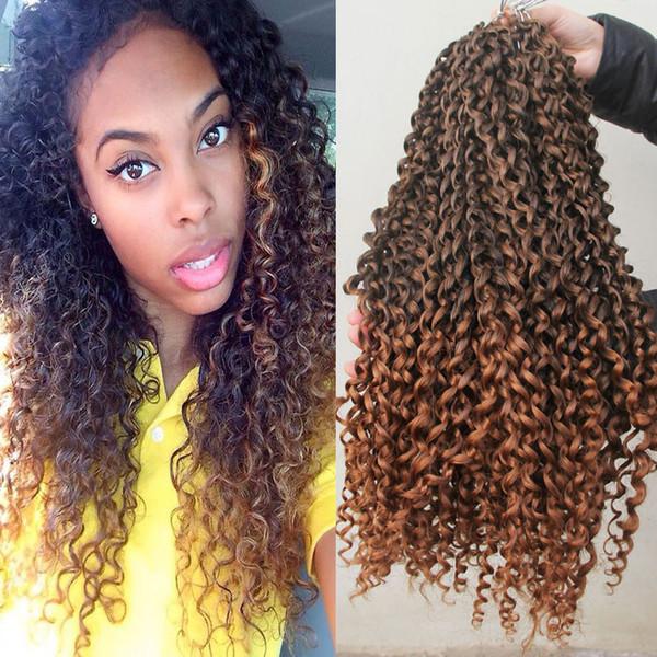 2018 Mali Bob Twist Curly Synthetic Braiding Crochet Hair Extensions