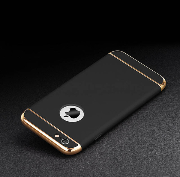 Luxury Ultra-thin Matte Mobilephone Case Metal Back Phone Cover For Apple iPhone 6S PLUS 5S 7 7s Plus Redmi