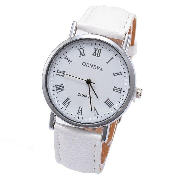 New Elegant Fashion luxury watches Donna Small Roman Numbers Quarzo Uomo Business orologio da polso White Face Student Geneva Watch reloj