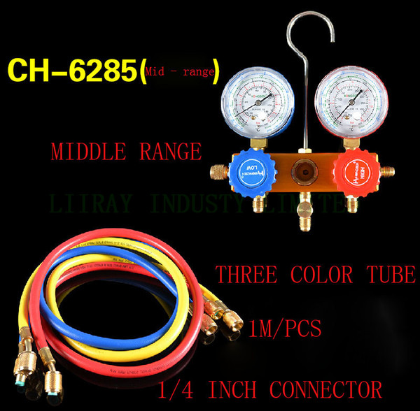 top popular CH-6285 Household Refrigeration Air Conditioning Manifold Gauge Maintenence Tools fluoride tool set for R22 2021