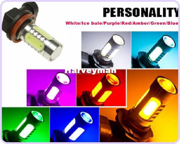 2 Pcs/Lot H11 H8 H9 9005 H1 881 880 CREE High Power Projector 4 Plasma SMD LED 11W Fog Light Multicolor LAMP HeadLight FREE MAIL
