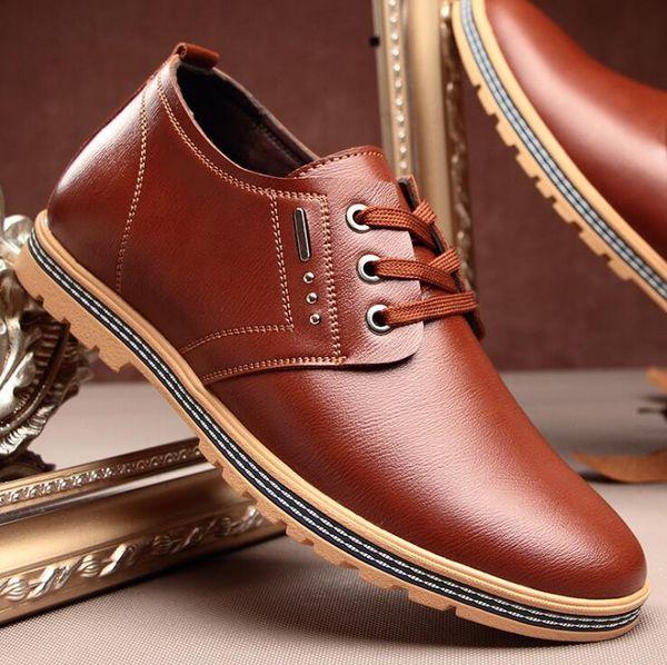 Mens Oxfords Men Genuine Leather Brand Spring Autumn Men's Formal Leather Shoes Dress Briitsh Vintage Retro Shoe Elegant Shoe
