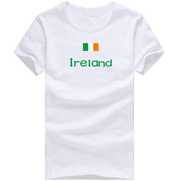 Ireland T shirt Fitness sport short sleeve School design tees Nation flag clothing Unisex cotton Tshirt