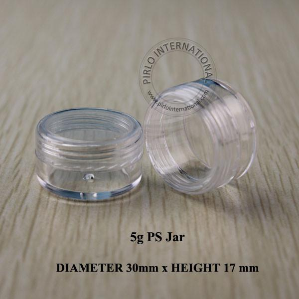 5g clair petits récipients d'échantillonnage en plastique mini pot avec couvercle vide cosmétique emballage pot boîte pour vernis à ongles poudre paillettes Art