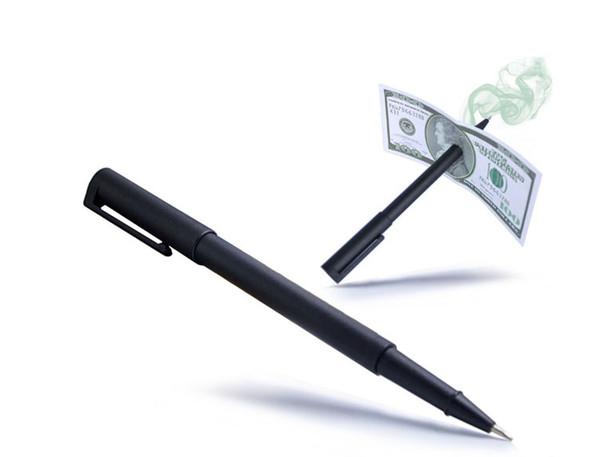 Magic Pen Penetration Through Paper Dollar Bill Money Magic Tricks Close Up Prop Christmas giftwith PP bag packing