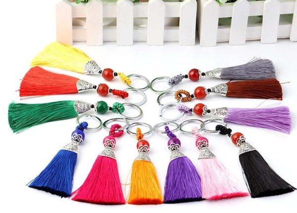 Good A++ Fine tassel key chain bag car pendant wild jewelry KR251 Keychains mix order 20 pieces a lot