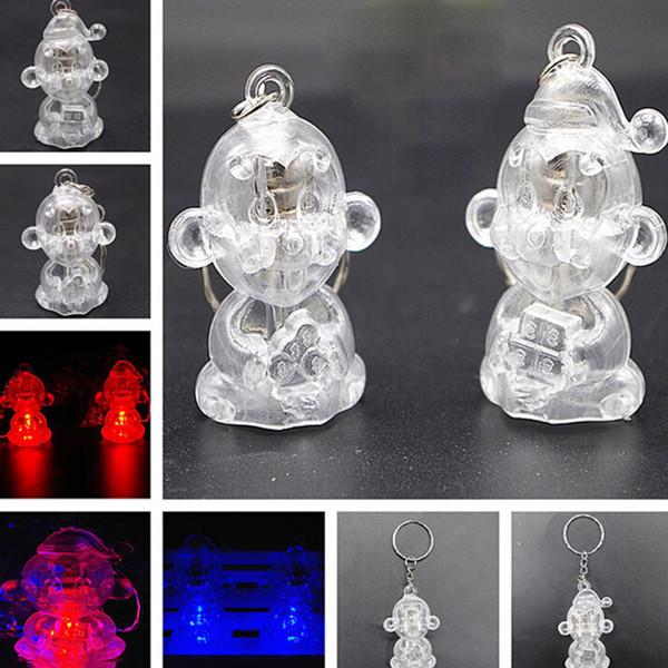 New fashion lychee Anime Yuri on Ice Keychain Crystal Glass LED Light Charm Key Ring For Car Bag Hanging Pendant Jewelry