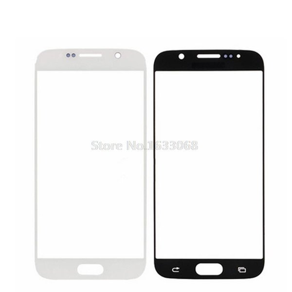 100% Original Front Touch Screen Outer Glass Replacement For Samsung Galaxy S6 G9200 White Blue Black Tracking NO.