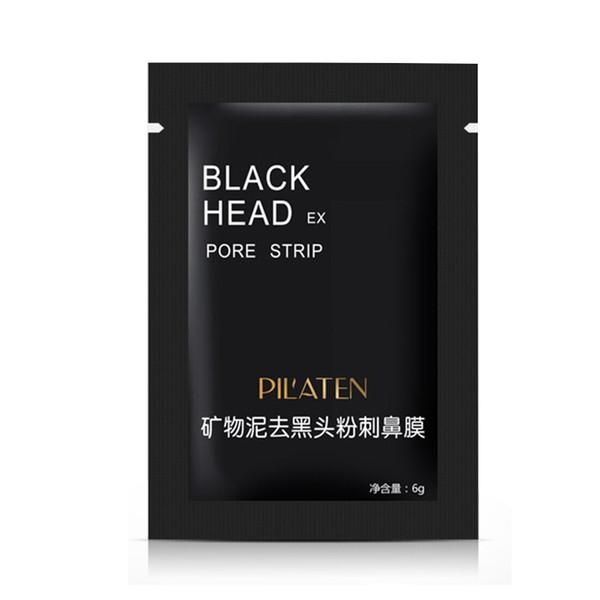 top popular 800pcs lot PILATEN Facial Minerals Conk Nose Blackhead Remover Mask Pore Cleanser Nose Black Head EX Pore Strip New Packing DHL 2021