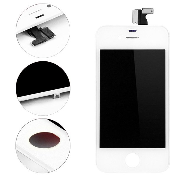 10 PCS/LOT Black White Complete LCD For iPhone 4 4G 4s LCD Display Touch Screen Touch Panel Glass Sensor Digitizer Assembly Replacement