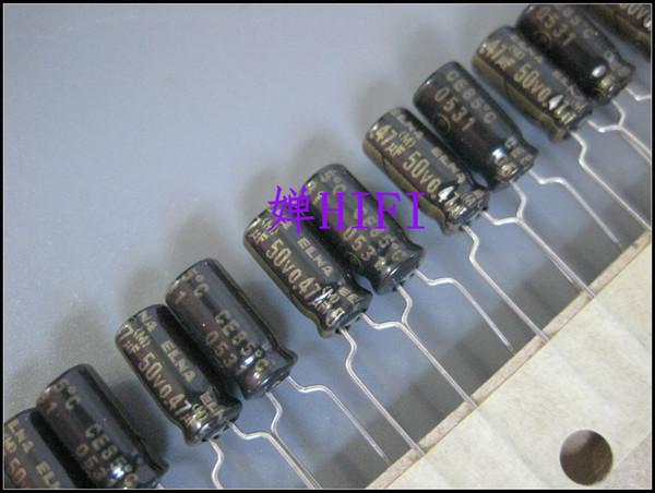 50pcs ELNA Original RA2 Noir Or Condensateur Electrolytique 50V0.47uf 5x11 livraison gratuite