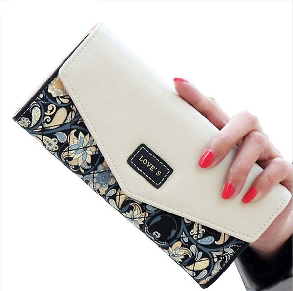 New Fashion girl wallet for women wallets brands purse dollar price printing designer purses card holder coin bag female