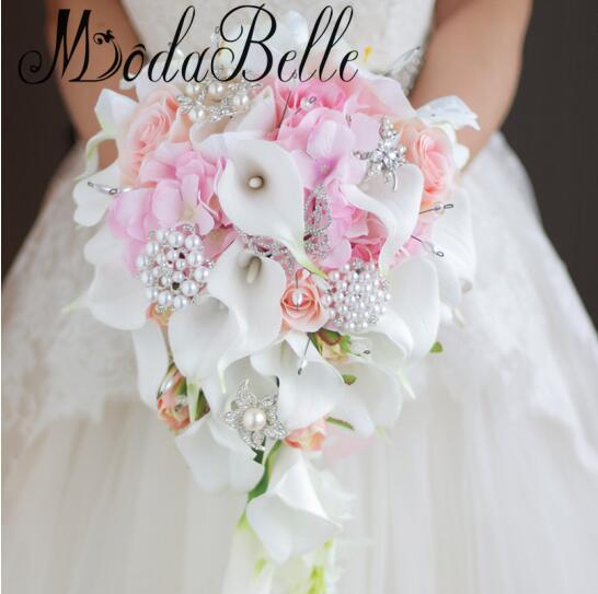 Modabelle Waterfall Style Calla Lilies Wedding Bouquets Flowers