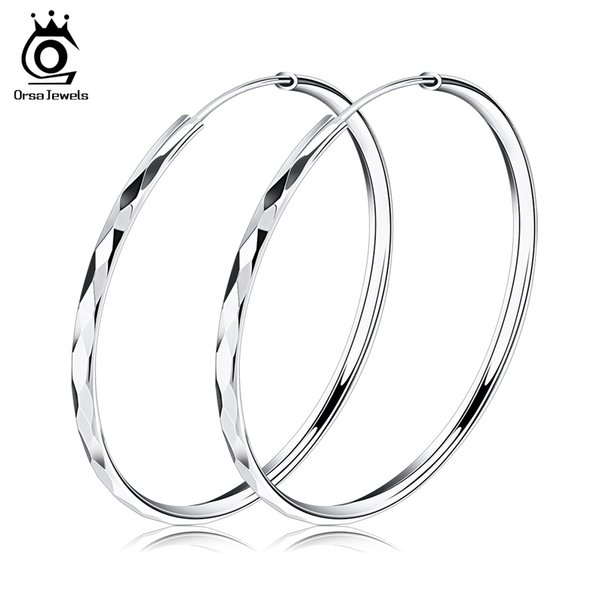 best selling Orsa Jewelry Fashion Trendy Earring,50mm Hoop Earring Style,Trendy Design Wholesale Fashion Earring Accessories OE09