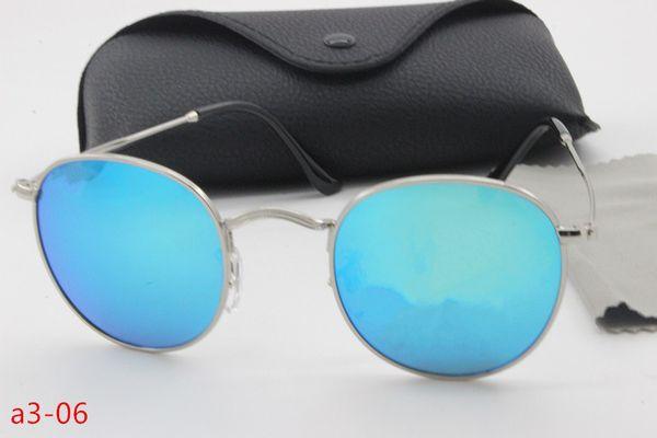 Wholesale 5 / pcs bursts of high quality designer sunglasses cool tide people HD retro shade metal frame glass lens driving glasses