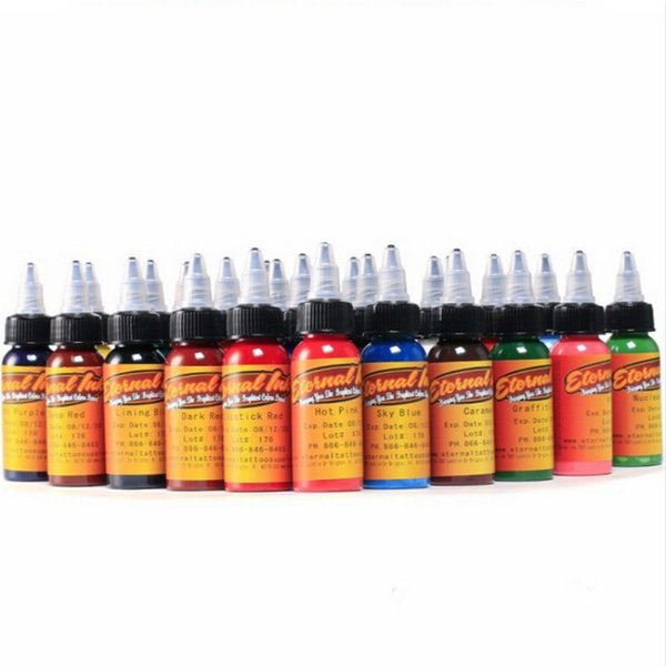 New 30ml/bottle tattoo ink set Microblading permanent makeup art pigment 16PCS cosmetic tattoo paint for eyebrow eyeliner lip body