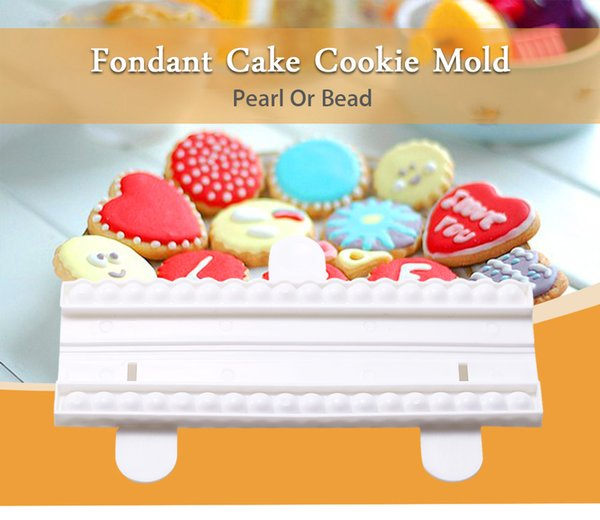 Pearl Chain Plastic Cake Mold Fondant Cutter Pastry Chocolate Mold Cake Decoration Mold DIY Sugarcraft Baking Tools B