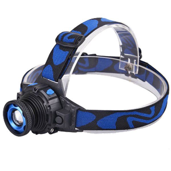 Headlamp LED 1 CREE Flashlight Adjustable 90 Degree Headlamp Zoomable Light For Hunting Camping Climbing with Retail Package DHL Free OTH341