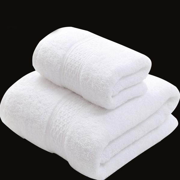 Set di asciugamani in cotone turco di lusso con 7 colori per l'Hotel Spa (1 asciugamano da bagno 1 asciugamano per le mani) JF001