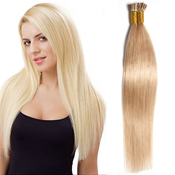 Newest 18 24 Inch Women I Tip Stick Hair Extension Multi Color