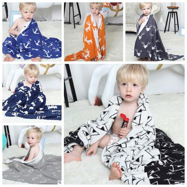 Kids Bedding Baby Blankets Crochet Soft Bath Towels Cotton Swaddle Ins Toddler Handmade Wrap Cartoon Swaddling Children Nursery Blanket H605