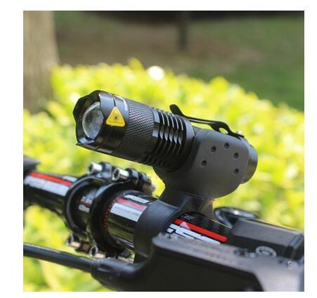 2000LM Q5 LED Flashlight Adjustable Focus Torch Lamp Waterproof Torch Light Cycling Bike Bicycle Front Light 3 Modes+360 Bike Torch Mount