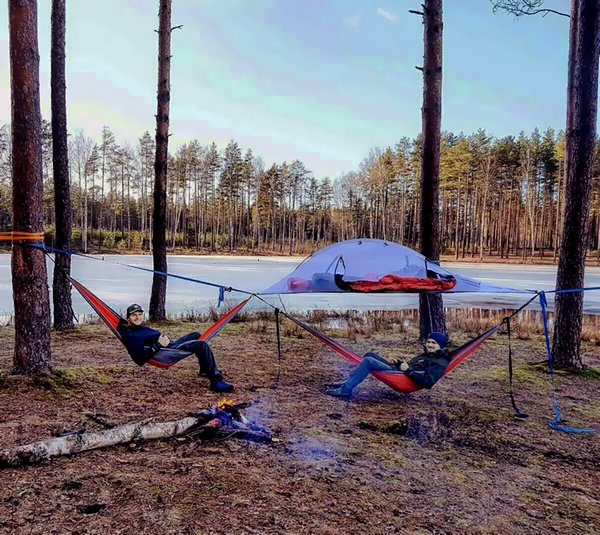 SKYSURF Outdoor cpaming tree tent hanging hammock tree tent two person double hammock with removable rainfly & SKYSURF Outdoor cpaming tree tent hanging hammock tree tent two ...
