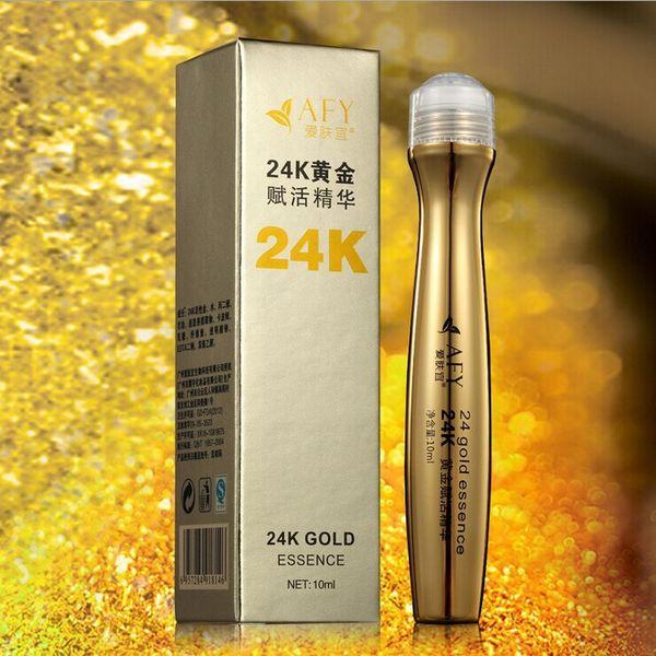 200Pcs/lot AFY 24K Gold Eye Essence Roll-on Eye Care Cream MosituringEyes Care Cream DHL free shipping