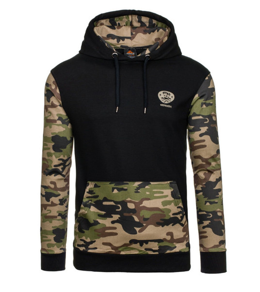 Hot Winter Hoodies Men New Brand Designer Causal Pullover Long Sleeve hoodie men camouflage baseball shirt