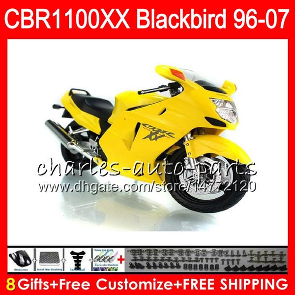 Body For HONDA Blackbird CBR1100 XX CBR1100XX Light yellow 02 03 04 05 06 07 81NO51 CBR 1100 XX 1100XX 2002 2003 2004 2005 2006 2007 Fairing