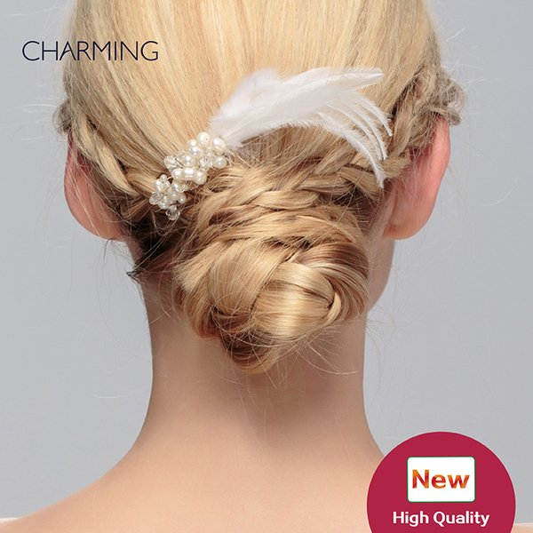 feather headpieces unique hair accessories bridal tiaras crystals pearls hair bands and clips wedding flower hair vines