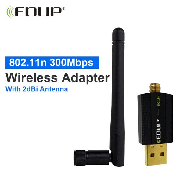 Wholesale- 300mbps usb wireless wifi adapter high gain wifi antenna 2dBi usb lan enthernet netwotk card wi-fi receiver 802.11n for PC